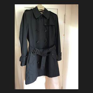 Burberry Black ¾ length Trench Coat